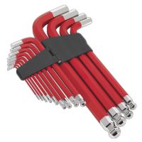13pc Anti-Slip Jumbo Ball-End Hex Key Set Metric